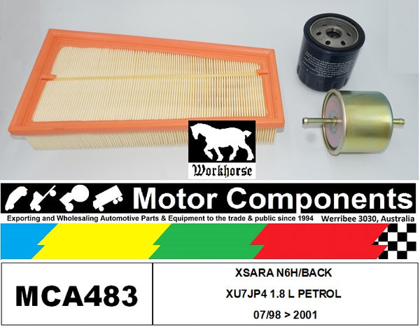FILTER SERVICE KIT for CITROEN XSARA N6H/BACK XU7JP4 1.8 L PETROL 07/98 > 2001