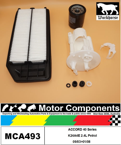 FILTER SERVICE KIT for Honda ACCORD 40 Series K24A4  2.4L Petrol 09/03>01/08
