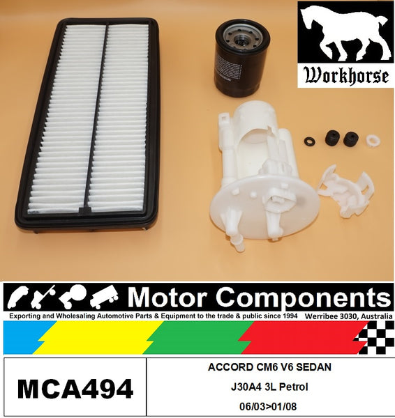 FILTER SERVICE KIT for Honda ACCORD 40 Series J30A4 3L V6 Petrol 08/03>01/08
