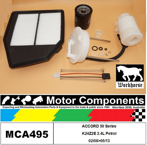 FILTER SERVICE KIT for Honda ACCORD 50 Series K24Z2  2.4L Petrol 02/08>05/13