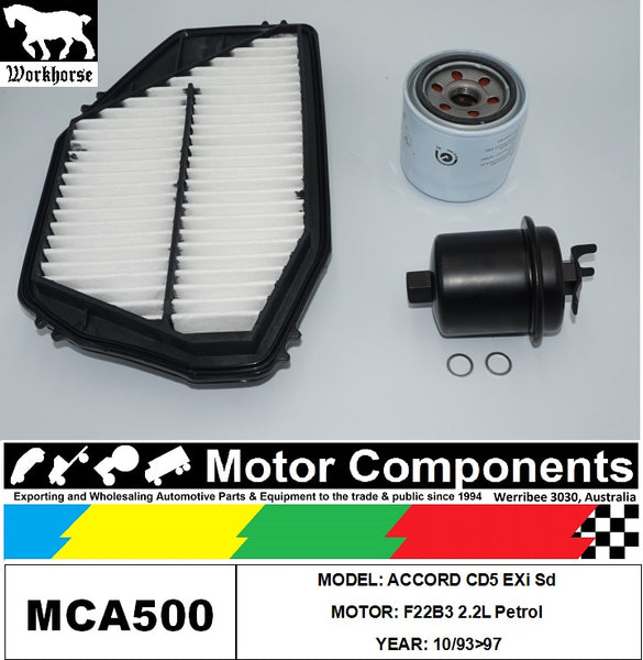 FILTER SERVICE KIT for Honda ACCORD CD5 EXi Sd F22B3 2.2L Petrol 10/93>97