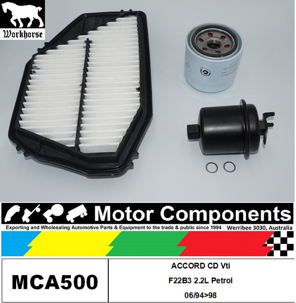 FILTER SERVICE KIT for Honda ACCORD CD Vti F22B3 2.2L Petrol 06/94>98