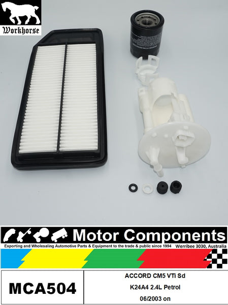 FILTER SERVICE KIT for Honda ACCORD CM5 VTi Sd K24A4 2.4L Petrol 06/2003 on