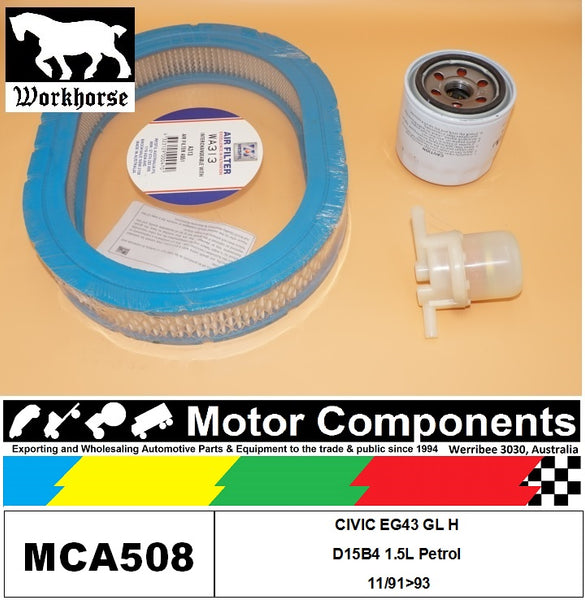 FILTER SERVICE KIT for Honda CIVIC EG43 GL H D15B4 1.5L Petrol 11/91>93