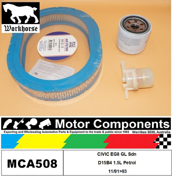 FILTER SERVICE KIT for Honda CIVIC EG8 GL Sdn  D15B4 1.5L Petrol 11/91>93