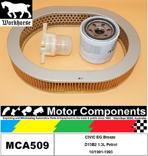 FILTER SERVICE KIT for Honda CIVIC EG Breeze D13B2 1.3L Petrol 10/1991-1993