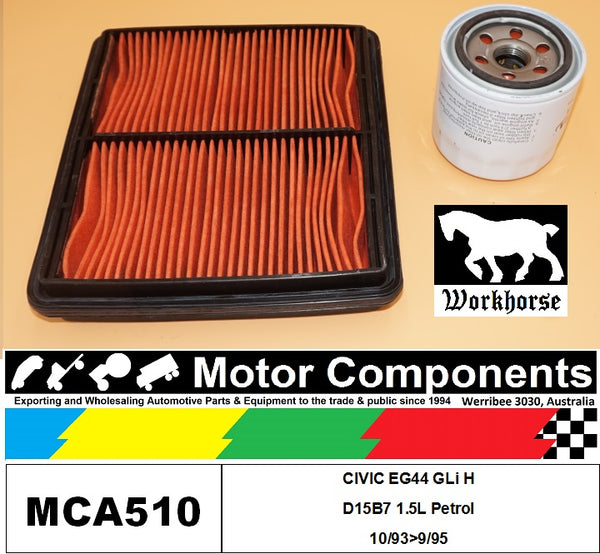 FILTER SERVICE KIT for Honda CIVIC EG44 GLi H D15B7 1.5L Petrol 10/93>9/95