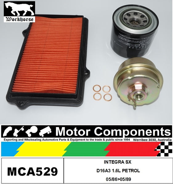 FILTER SERVICE KIT for Honda INTEGRA SX D16A3 1.6L PETROL 05/86>05/89