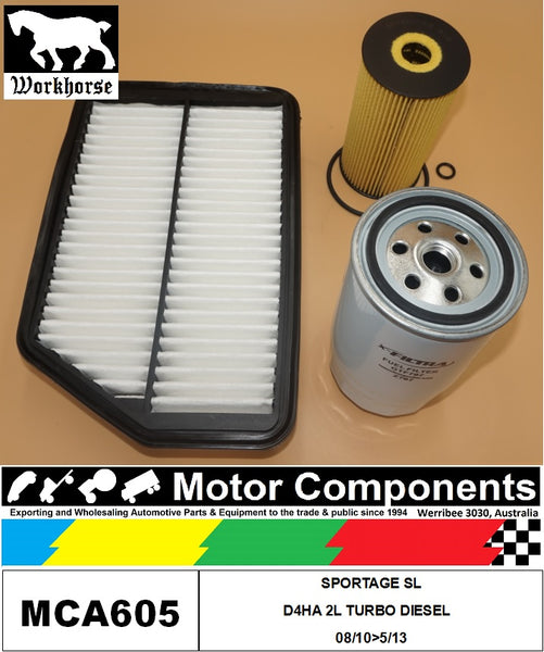 FILTER SERVICE KIT for KIA SPORTAGE SL D4HA  2L TURBO DIESEL 08/10>05/13