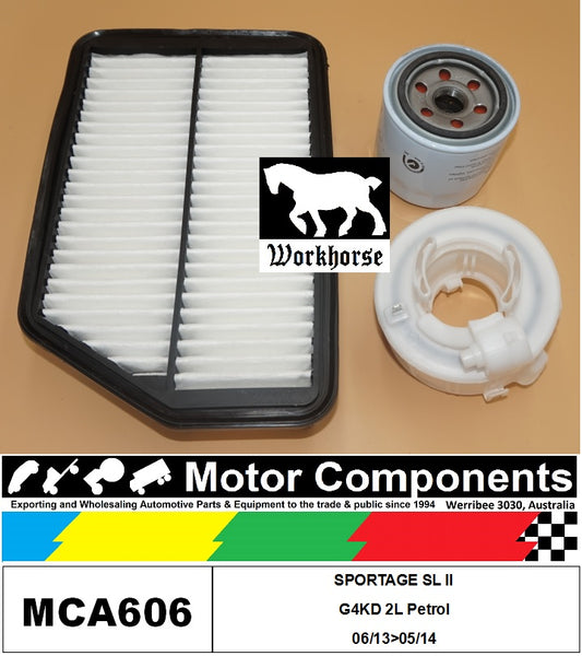 FILTER SERVICE KIT for KIA SPORTAGE SL II G4KD  2L Petrol 06/13>05/14