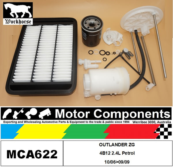 FILTER SERVICE KIT for MITSUBISHI  OUTLANDER ZG 4B12 2.4L Petrol 10/06>09/09