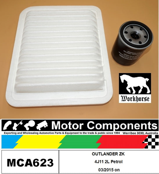 FILTER SERVICE KIT for MITSUBISHI  OUTLANDER ZK 4J11 2L Petrol 03/2015 on