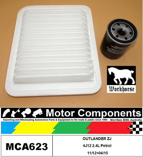 FILTER SERVICE KIT for MITSUBISHI  OUTLANDER ZJ 4J12 2.4L Petrol 11/12>04/15