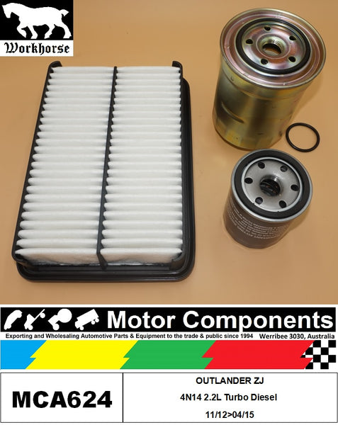 FILTER SERVICE KIT for MITSUBISHI  OUTLANDER ZJ 4N14 2.2L Turbo Diesel 11/12>04/15