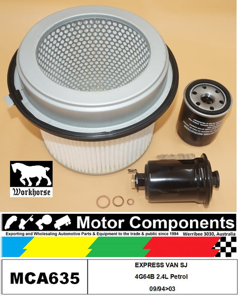 FILTER SERVICE KIT for MITSUBISHI EXPRESS VAN SJ 4G64B 2.4L Petrol 09/94>03