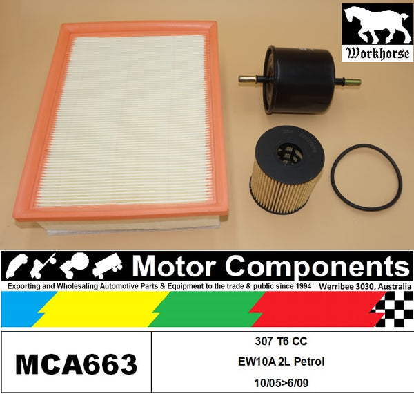 FILTER SERVICE KIT for Peugeot  307 T6 CC EW10A 2L Petrol 10/05>06/09