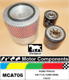 FILTER SERVICE KIT for HOLDEN  RODEO TFR55,G6 4JB1-T 2.8L TURBO DIESEL 11/95>97