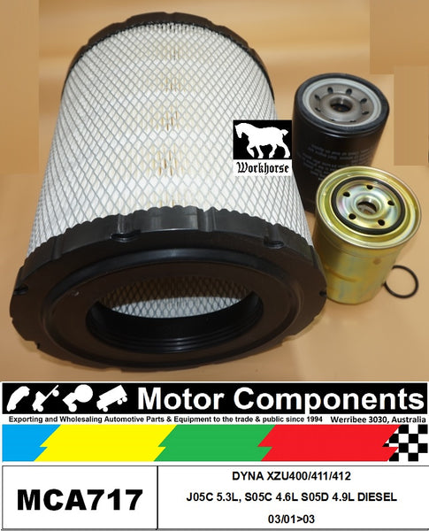 FILTER KIT for TOYOTA DYNA 4500 5500 6500 S05C 4.6L S05D 4.9L J05C 5.3L 2001 >03