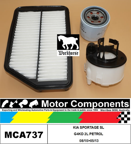 FILTER KIT for KIA SPORTAGE SL G4KD 2L PETROL 08/10>05/13