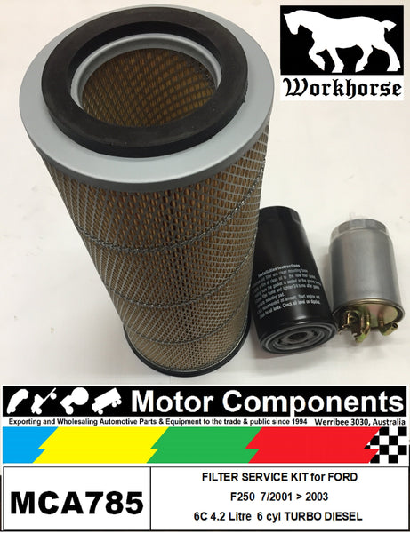 FILTER KIT AIR FUEL OIL FORD F250 6C 4.2L TURBO DIESEL 7/01>03