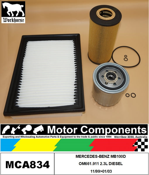FILTER SERVICE KIT FOR MERCEDES-BENZ MB100D OM661.911 2.3L DIESEL 11/99>01/03