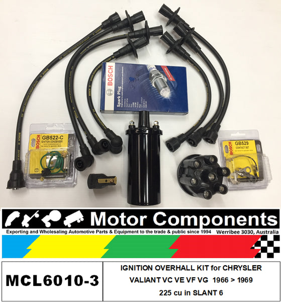 IGNITION KIT for CHRYSLER VALIANT, SLANT 6 VC VE VF VG 225 cu in	1966 > 69