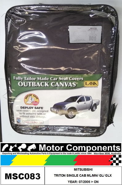 SEAT COVER TO SUIT MITSUBISHI TRITON SINGLE CAB ML/MN/ GL/ GLX 07/2006 > ON