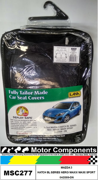 SEAT COVER TO SUIT  MAZDA 3 HATCH BL SERIES NERO/ MAXX/ MAXX SPORT 04/2009-ON