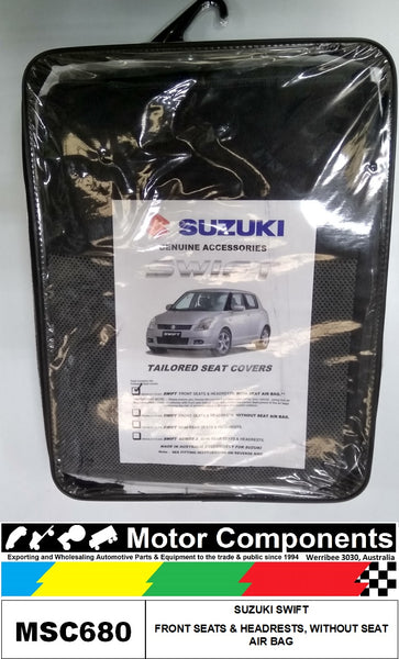 SEAT COVER TO SUIT SUZUKI SWIFT