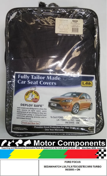 SEAT COVER for FORD FOCUS SEDAN/HATCH LS/LT /LX /TDCi /ZETEC /XR5 TURBO 06/2005 > ON