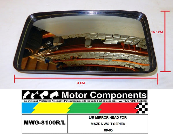 L/R MIRROR HEAD FOR MAZDA WG T SERIES 89-95