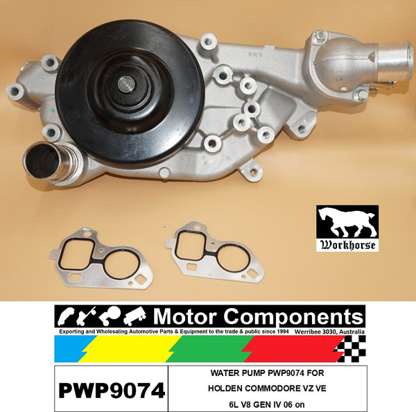 WATER PUMP PWP9074 FOR HOLDEN COMMODORE VZ VE 06 on 6L V8 GEN IV