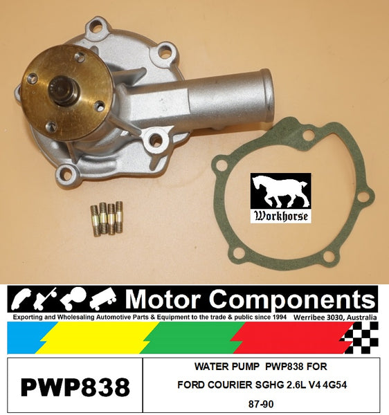 WATER PUMP  PWP838 FOR  FORD COURIER SGHG 2.6L V4 4G54 87-90