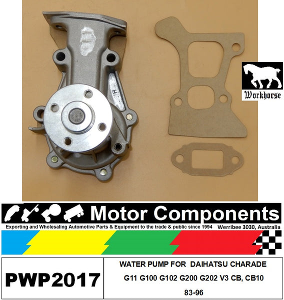 WATER PUMP PWP2017 FOR DAIHATSU CHARADE G11 G100 G102 G200 G202 V3 CB, CB10 83-96