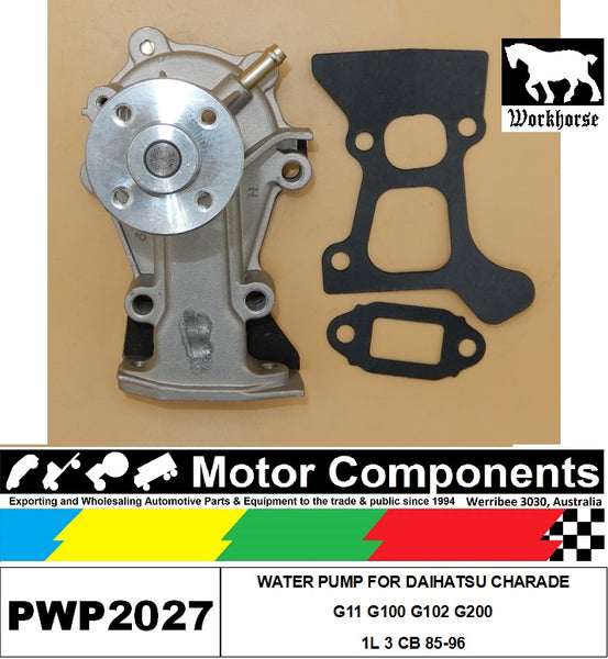 WATER PUMP PWP2027 FOR DAIHATSU CHARADE G11 G100 G102 G200  1L 3 CB 85-96