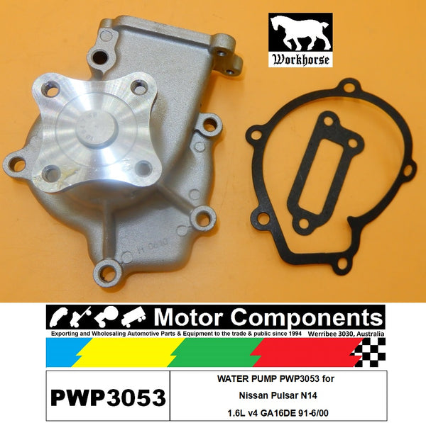 WATER PUMP PWP3053 for  Nissan Pulsar N14 1.6L v4 GA16DE 91-6/00