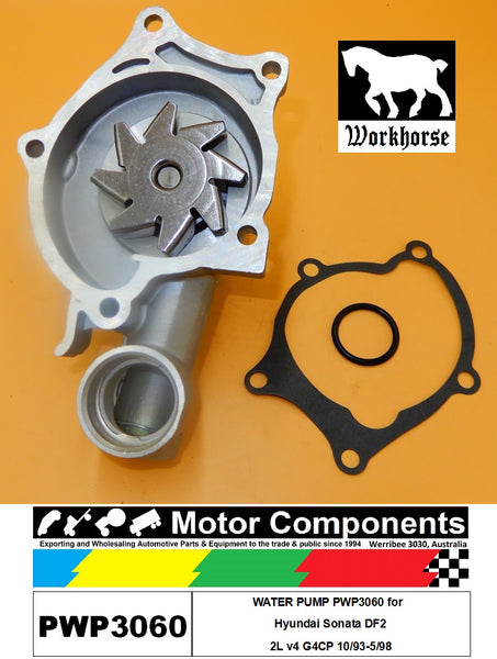WATER PUMP PWP3060 for  Hyundai Sonata DF2 2L v4 G4CP 10/93-5/98
