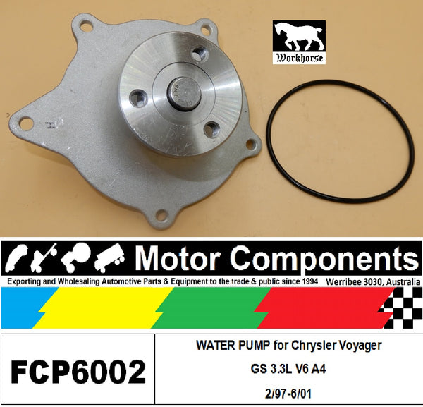 WATER PUMP FCP6002 for  Chrysler Voyager GS 3.3L V6 A4 2/97-6/01