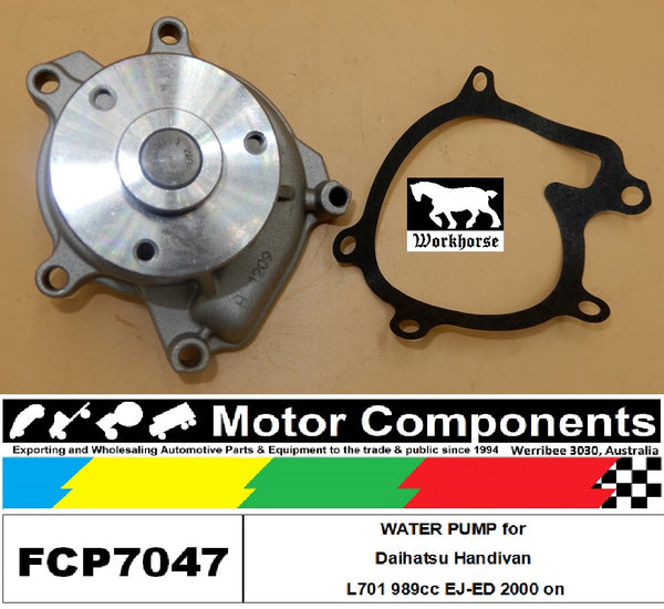 WATER PUMP FCP7047 for Daihatsu Handivan L701 989cc EJ-ED 2000 on