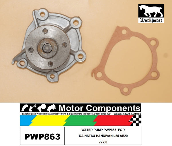 WATER PUMP PWP863  FOR DAIHATSU HANDIVAN L55 AB20 77-80