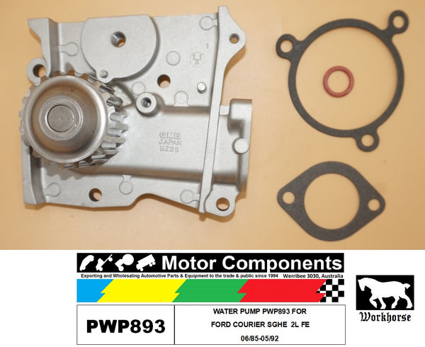 WATER PUMP PWP893 FOR FORD COURIER SGHE  2L FE 06/85-05/92