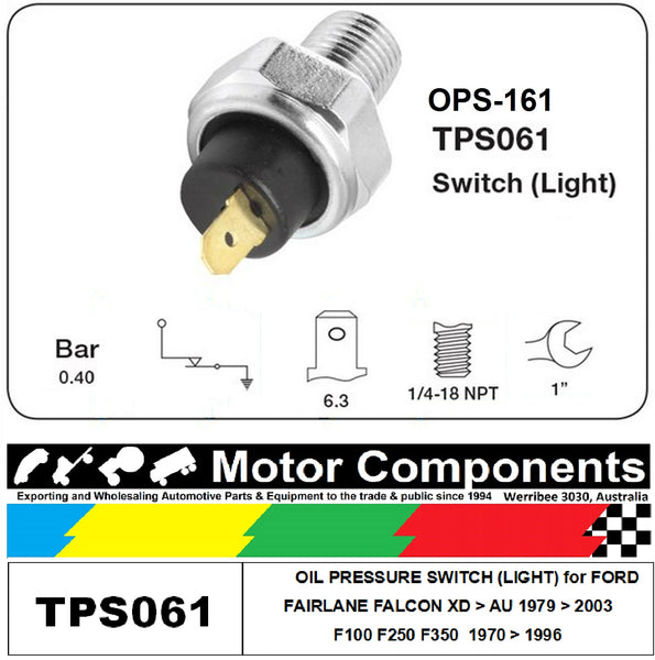 OIL PRESSURE SENDER for FORD FALCON XD > AU F100 FAIRLANE 1970 > 2003