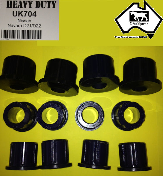 SPRING SHACKLE BUSH KIT REAR for NISSAN NAVARA D21 D22 1986 on