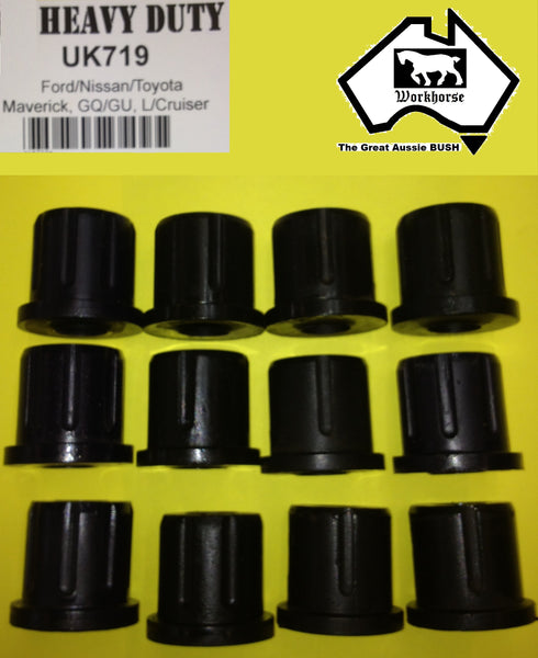 POLY SHACKLE BUSH KIT FRONT TOYOTA LANDCRUISER  HZJ75 HDJ75 70 SERIES - 11/99
