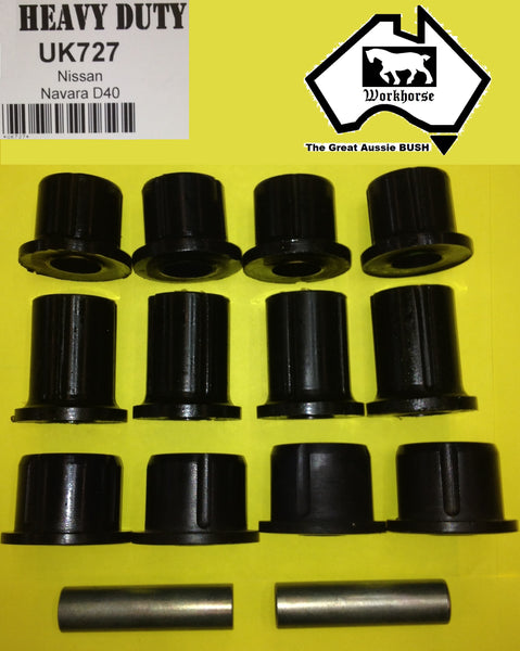 SPRING SHACKLE BUSH KIT REAR for NISSAN NAVARA D40 2005 > 2015
