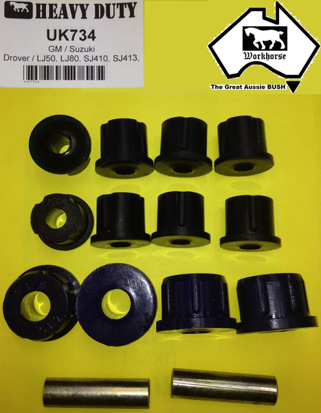 SPRING SHACKLE BUSH KIT FRONT or REAR for SUZUKI LJ10 LJ20 LJ50 LJ51 LJ80 LJ81 SJ410 SJ413