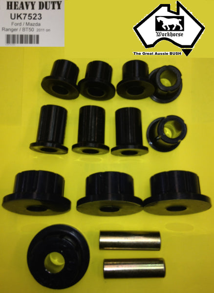 SPRING SHACKLE BUSH KIT REAR for MAZDA BT50 2WD 4WD 10/2011 >