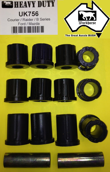 POLY SHACKLE BUSH KIT REAR MAZDA B2000 B2200 B2500 B2600 BRAVO 85>06
