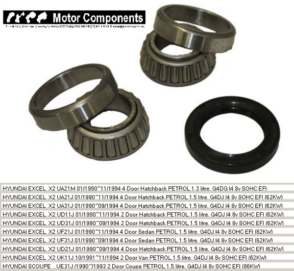 WHEEL BEARING KIT REAR for HYUNDAI X2 SCOUPE 1990 > 1994