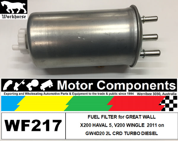 FUEL FILTER for GREAT WALL X200 HAVAL 5 GW4D20 2L CRD TURBO DIESEL 2011 on
